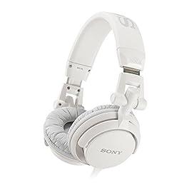 Sony MDR-V55 Cuffie Chiuso DJ, 105 dB, 40 Ω, Nero/Bianco