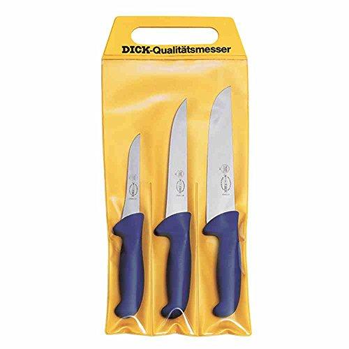 DICK Messer-Set 3T Ergo Grip, Stahl, Blau 48 x 22 x 1.8 cm, 3-Einheiten