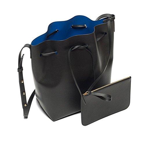 LifenewBaby , Damen Clutch blau Blue S S Black+Blue L