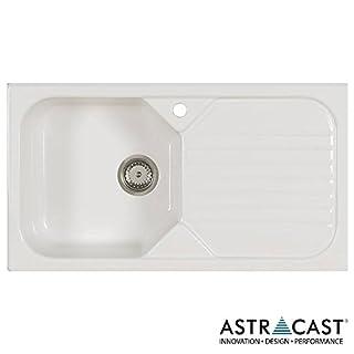 Astracast Swale 1.0 Bowl Gloss White Ceramic Kitchen Sink RHD & Waste