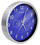 Bresser Orologio da Parete Termo-/ Igrometro Mytime 25cm - Blu