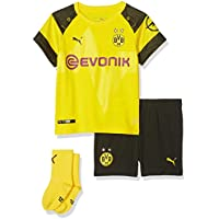 Puma BVB Home babykit Socks EVONIK with Opel Logo Maillot Taille Unique