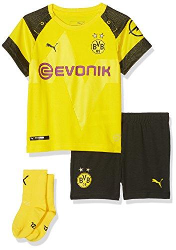 PUMA Kinder BVB Home Babykit Socks Evonik with OPEL Logo Trikot, Cyber Yellow, 86