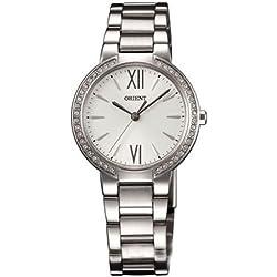 Orient Damen 30mm Silber Ëdelstahl Armband & Gehäuse Mineral Glas Uhr FQC0M004W0