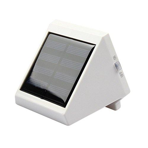 TechCode Solarbetriebene LED Zaun Lichter, Solar LED Zaun Lichter im Freien LED Wasserdichte Wand Lampe Dreieck Licht im Freien Garten Weg Zaun Wand Gehweg Decking Patio Lichter (Warmes Weiß)