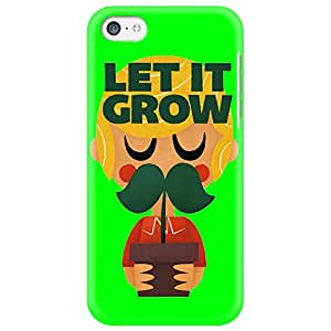 Wildpunch WP-IP5C(40) Funny Moustache Designer Phone Back Cover Case For IPhone 5C (Green)