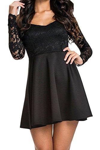 Dissa® femme Noir SY21656 robe de cocktail Noir