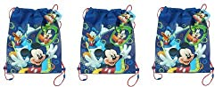 Disney Mickey Club House Non Woven Sling Bag x 3