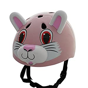 Pink Cat / Rabbit Childrens Safety Cycling Skating Scooter Bike Helmet (Suitable ages 3 - 11)