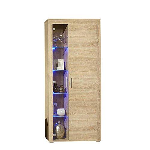 Wohnwand mit LED Beleuchtung Eiche Sonoma (4-teilig) Pharao24 - 5