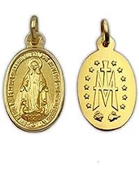 d7d679ba0d7a Medalla Religiosa - Medalla Virgen Milagrosa 10x15 mm con Reverso. Oro de  18 K (