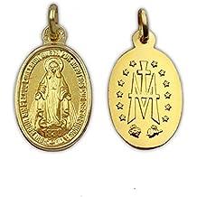 acb8b2ad907 Medalla Religiosa - Medalla Virgen Milagrosa 10x15 mm con Reverso. Oro de  18 K (
