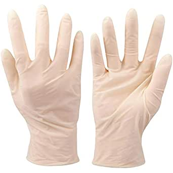 VOUCH Latex Medical Examination Disposable Powdered Hand Gloves - 100 Pieces