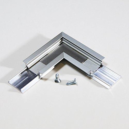 9040-serie (L Stück Winkel Verbindug / L-9040-ALU / HELITEC Set für LED Aluprofile 9000er Serie Zubehör Alu Profil)