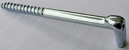 Preisvergleich Produktbild 4 Stück HSI Schraubhaken gerade mit Kreuzschlitz 80 x 5, 8 mm verzinkt