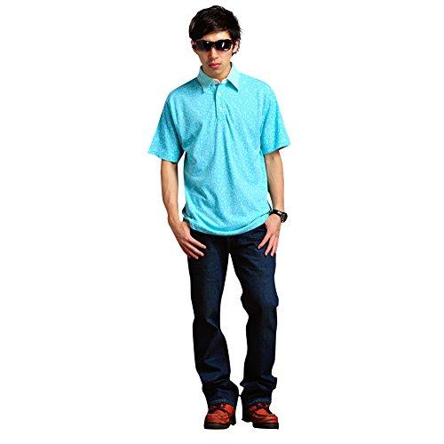LONGHAN Sommermode Revers des Geschäfts der Männer beiläufigen dünnen Normallack T-Shirt LH-0006 (M, Hellgrün grün~~POS=HEADCOMP) (Einfach V-neck Fit Tee Jersey)