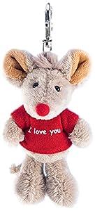 Schaffer 2520Llavero de Peluche ratón I Love You