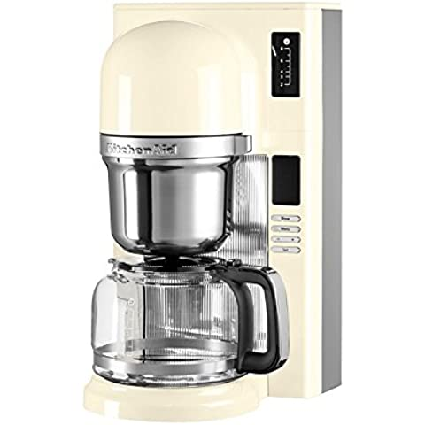 KitchenAid 5KCM0802EAC Drip coffee maker 1.25L 8cups Cream coffee maker - coffee makers (Freestanding, Drip coffee maker, Cream, Plastic, Stainless steel, Buttons, Ground coffee)