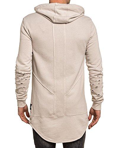 BLZ jeans - Beige Jacke mit Reißverschluss mit Kapuze Mann verschanzt Beige