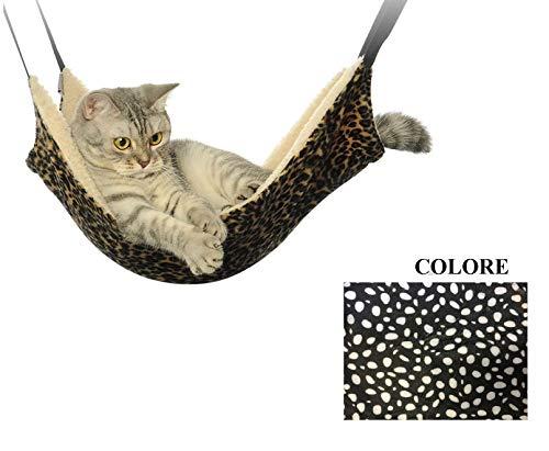 Ducomi Sleepat Hängematte Katze mit weicher und Warmer Beschichtung - 53 x 35 cm - Maximale Tragkraft 12 kg - für Katzen und kleine Nager - Einfache Installation mit 4 Haken