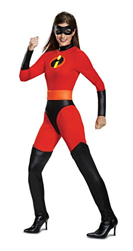 Kostüm Incredibles - Disguise Incredibles 2 Classic Mrs. Incredible Women's Fancy Dress Costume Small