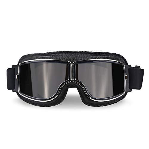 XYQY brille Universal Pilot Aviator Retro Vintage Motorradbrille Motorrad Roller Gläser Uv Schutz Für Fahrrad Motor SonnenbrilleModell 4
