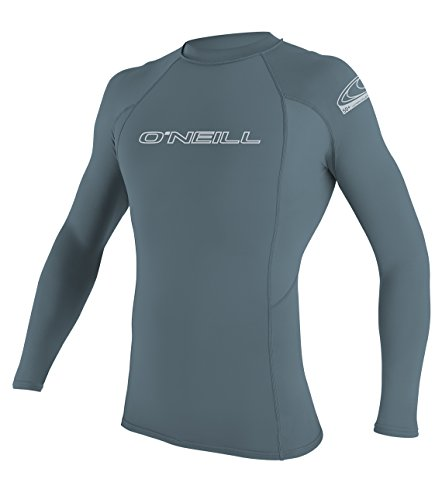 O'Neill 2018 Basic Skins Long Sleeve Crew Rash Vest DUSTY BLUE 3342
