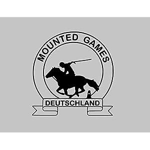 Aufkleber Mounted Games Logo klein