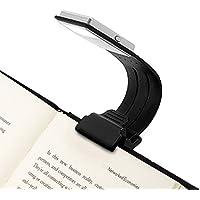 Opard Luce Da Lettura A LED, 4 Luminosità Regolabile a Progettare – Lampada Con Morsetto Piccolo Lampada Lettura Flessibile, Luce da Lettura per kindle. La lampada Ricaricabile Tramite USB; Nero.