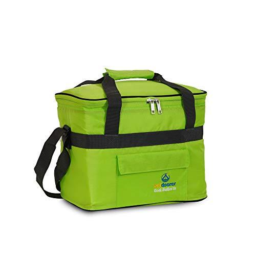 outdoorer Kühltasche Cool Butler 15, grün, mit Außentasche