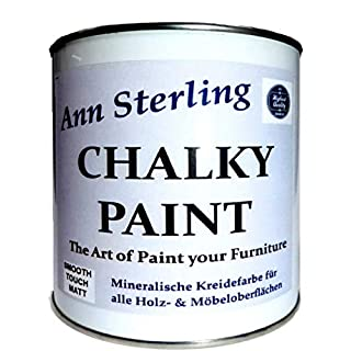 Ann Sterling Kreidefarbe Shabby Chic Farbe: Chalky White/Weiß 0,5Kg. Lack Chalky Paint