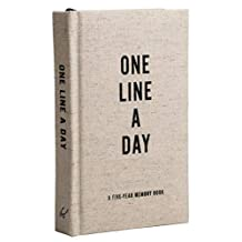 Canvas One Line a Day: A Five-Year Memory Journal: A Five-Year Memory Book