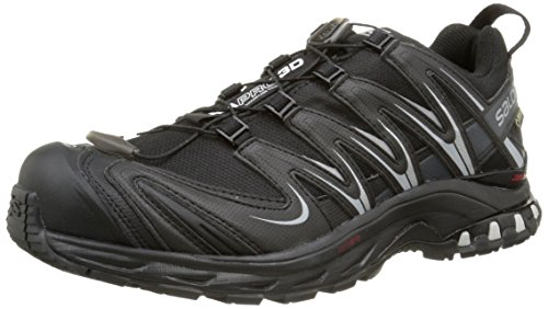 Salomon XA PRO 3D GTX, Chaussures de trail femmes, Multicolore (Black/Asphalt/On), 42 2/3