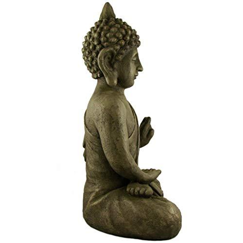Stein Buddha Antik massiv Steinfigur - 5