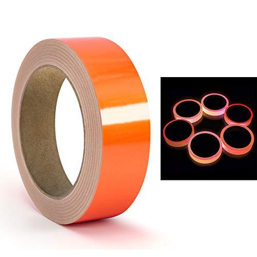 CARDMOE UV-Schwarzlicht-Reaktivklebeband, Fluoreszierendes Tuchband Orange/Rot