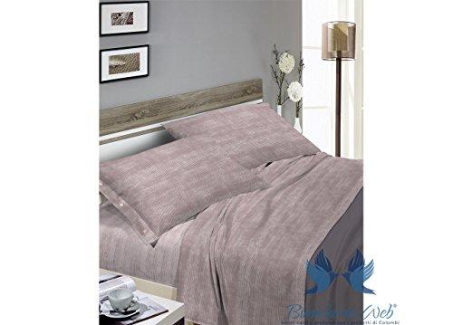 Parure de lit en flanelle souple Motif Bon Bon 2P beige