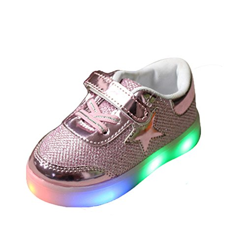 EnFant Kids Verschnaufpause Kinder Schuhe LED-Licht Sport Mädchen Sneakers rose