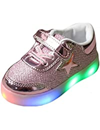 New Romatics Enfant Kids Breather Niños Zapatos Led Light Sport Girls Zapatillas Rose 29