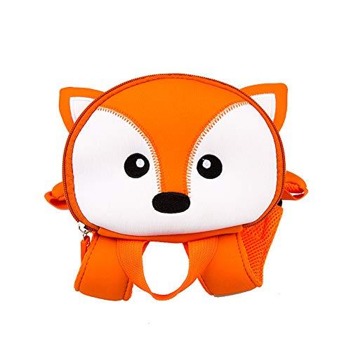 RUISSEN Kinder Kleinkind Rucksack Süß Tier Karikatur Schultasche zum Jungs Mädchen Kinder Kinder Kleinkind Sicherheit Anti-Lost Gurt Rucksack mit Zügel (1-3 Jahre alt) (Fuchs)