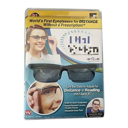 Einstellbare Linse Brillen Zifferblatt Vision Variabler Fokus Männer Frauen Brillen Für Fernablesung Nicht verschreibungspflichtige Linsen