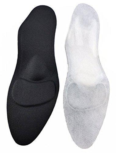 orthopädische Damen Komfort Schuheinlagen Beige f. High Heel, Pumps u. Absatzschuhe von Green-Feet, die 1,8mm dünnen Einlegesohlen gegen Senkfuß u. Spreizfuß (38)
