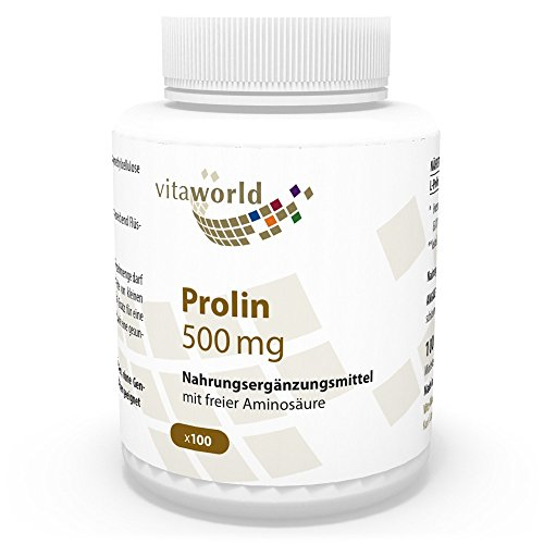 Vita World Prolina 500mg 100 Capsule Made in Germany