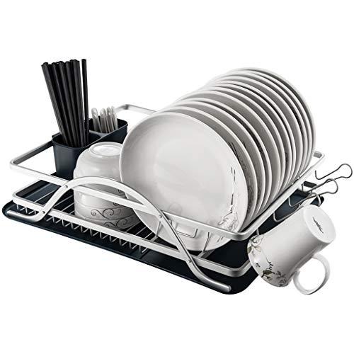 Aufbewahrungsregal Für Den Haushalt, Raum Aluminium Einschichtiges Abtropfgestell Küchenregale Abtropfgestell, Multi-Size Optional (Farbe : Silber, größe : Tuba)