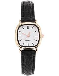 Sonew Relojes de cuarzo para mujer Reloj de pulsera analógico de diseño  simple Correa de cuero cómoda Reloj de pulsera para señora… da3eb2f9ceb