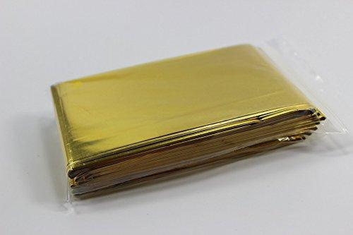 infimedix 1840 10 Stück Rettungsdecken Gold/Silber mit deutscher Bedienungsanleitung, 160 cm x 210 cm