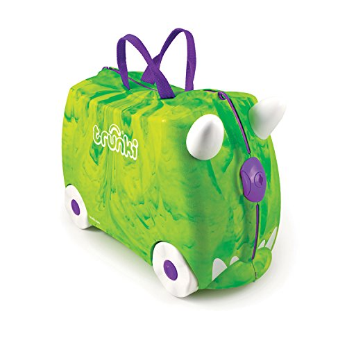 Trunki Ride on Suitcase Trunkisaurus Rex Green