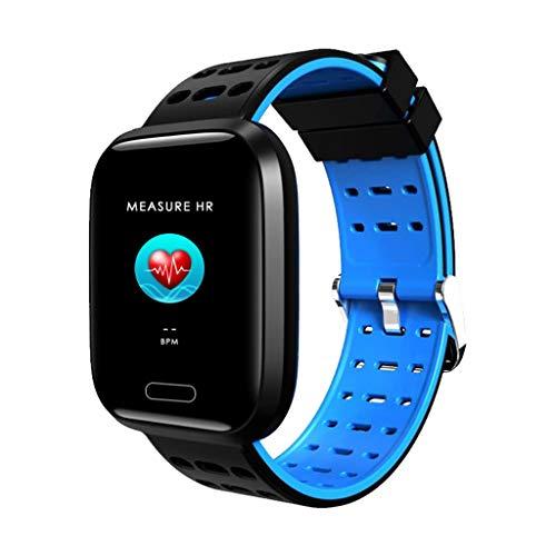 1,3-Zoll-Vollfarb-Bildschirm Blutdruck-Herzfrequenz-Messgerät Smart Watch Bracelet A8 Vollbild Flex Screen Smart Armband Smart Uhr Silikon Blau -