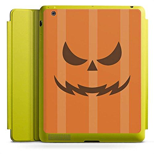 DeinDesign Apple iPad 2 Smart Case Limette Hülle mit Ständer Schutzhülle Gesicht Halloween Grusel
