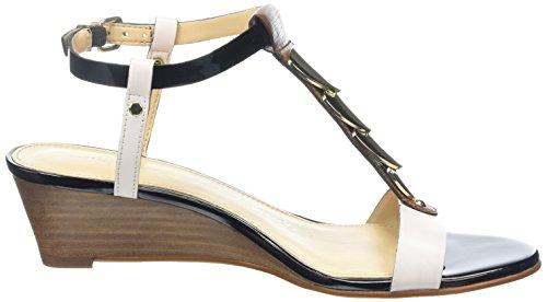 Moda in Pelle Pablar, Sandales Compensées femme Blanc - Blanc