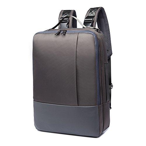 Hybride 4en 1Sac à Dos Sacoche Sac à bandoulière pour Apple MacBook Pro 38,1cm (2018)/ASUS Vivobook S15/MSI Gt63Titan 8RG 15.6pour Ordinateur Portable Gris